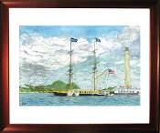 U.S. Brig Niagara Docked at Put-in-Bay Limited Edition Print